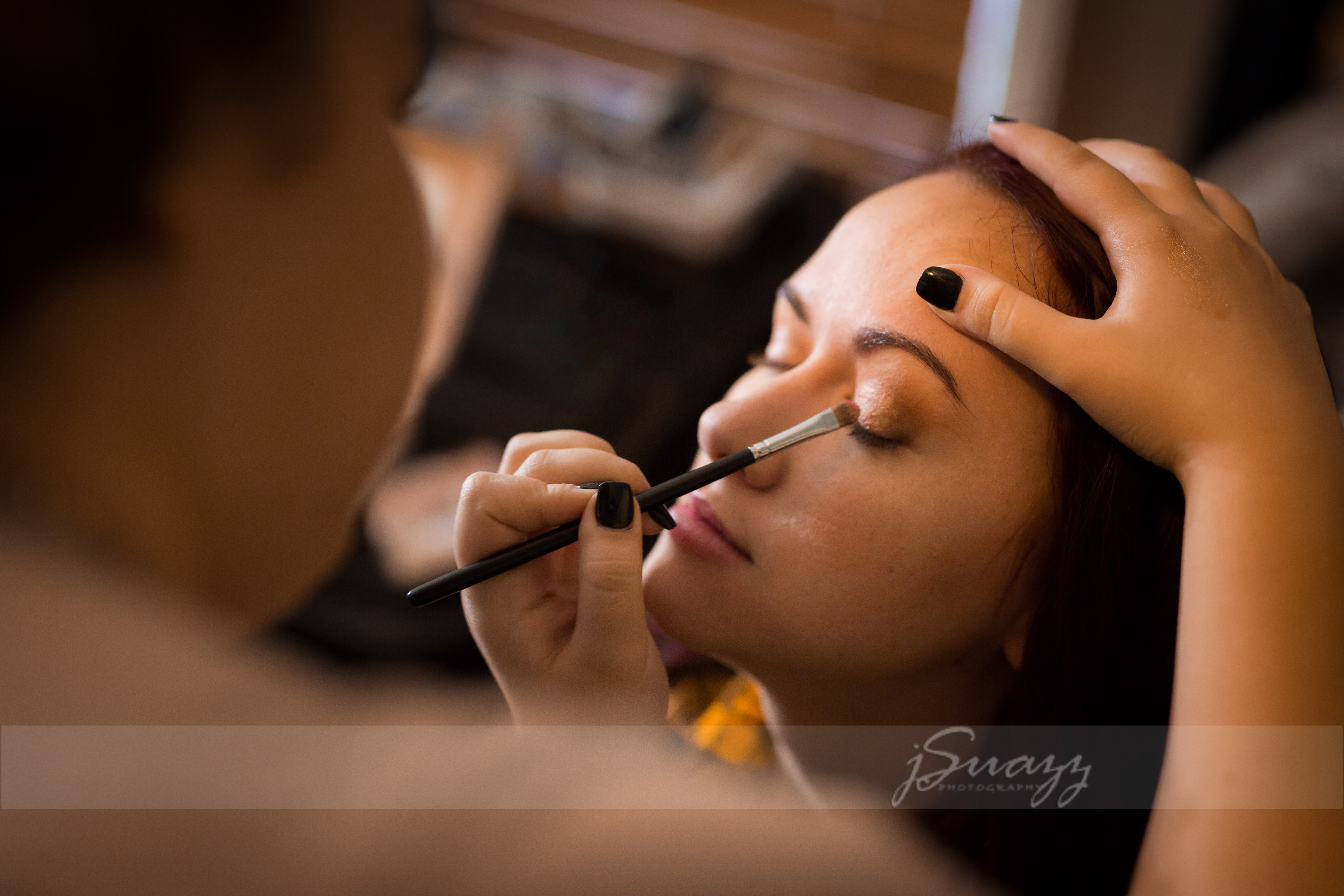 Wedding Eye Makeup application by BlackBird Beauty Houston