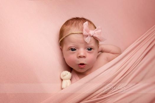 Newborn Girl Open Eyes Houston
